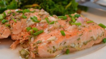 Wine Poached Salmon