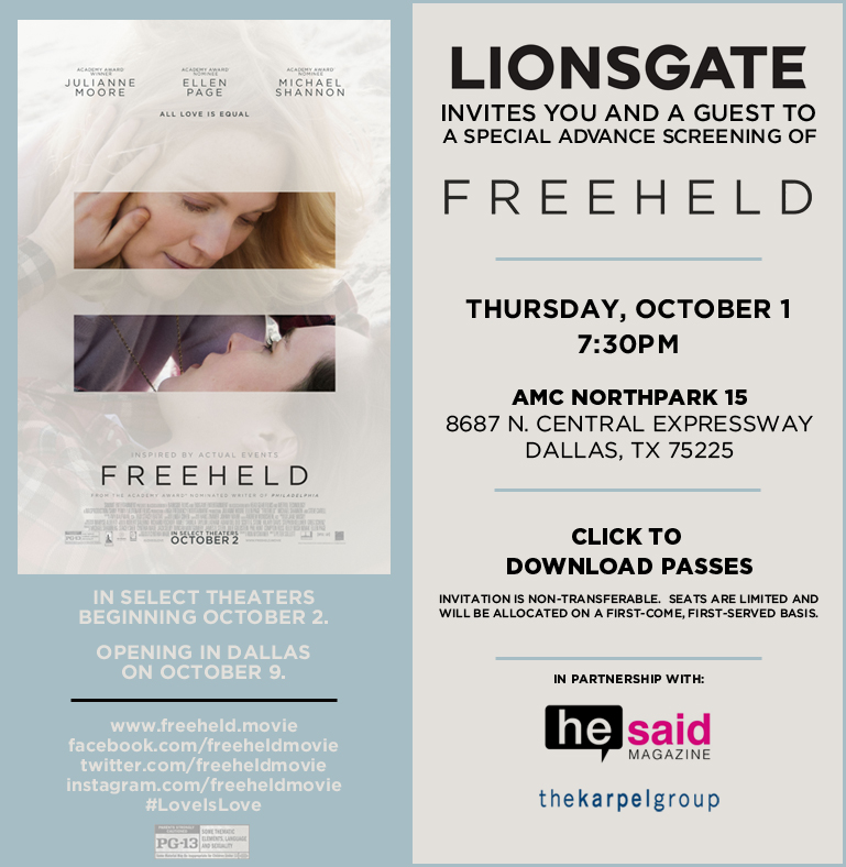 Freeheld_Screening_Dallas