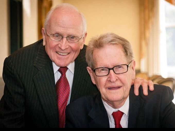 George Harris (l) and Jack Evans